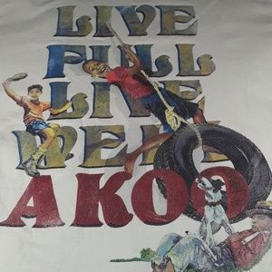 This is an AKOO shirt size Medium